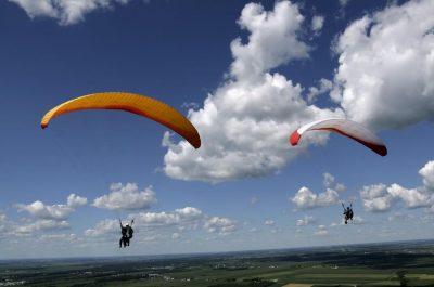 Paragliding na Kozákově